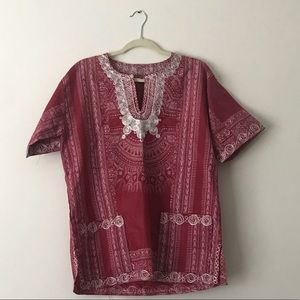 Authentic embroidered women's dashiki